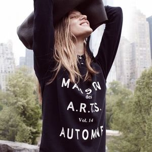 Madewell Maison des A.R.T.S black & white sweater